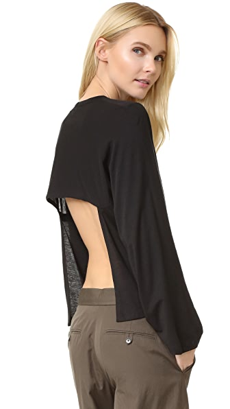 Helmut Lang Open Back Long Sleeve Tee