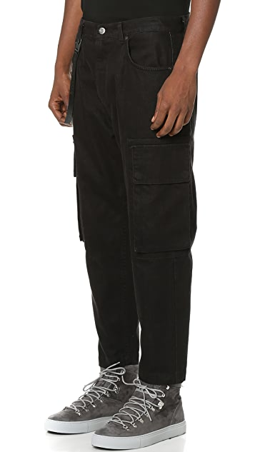 Helmut Lang Cropped Cargo Jeans