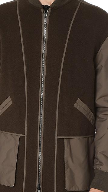 Helmut Lang Heritage Felt Oversized Bomber Coat