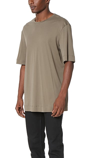 Helmut Lang Brushed Jersey Longline Tee