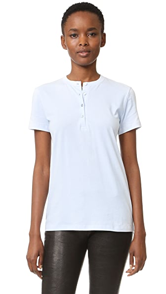 Helmut Lang Henley Tee - Light Blue