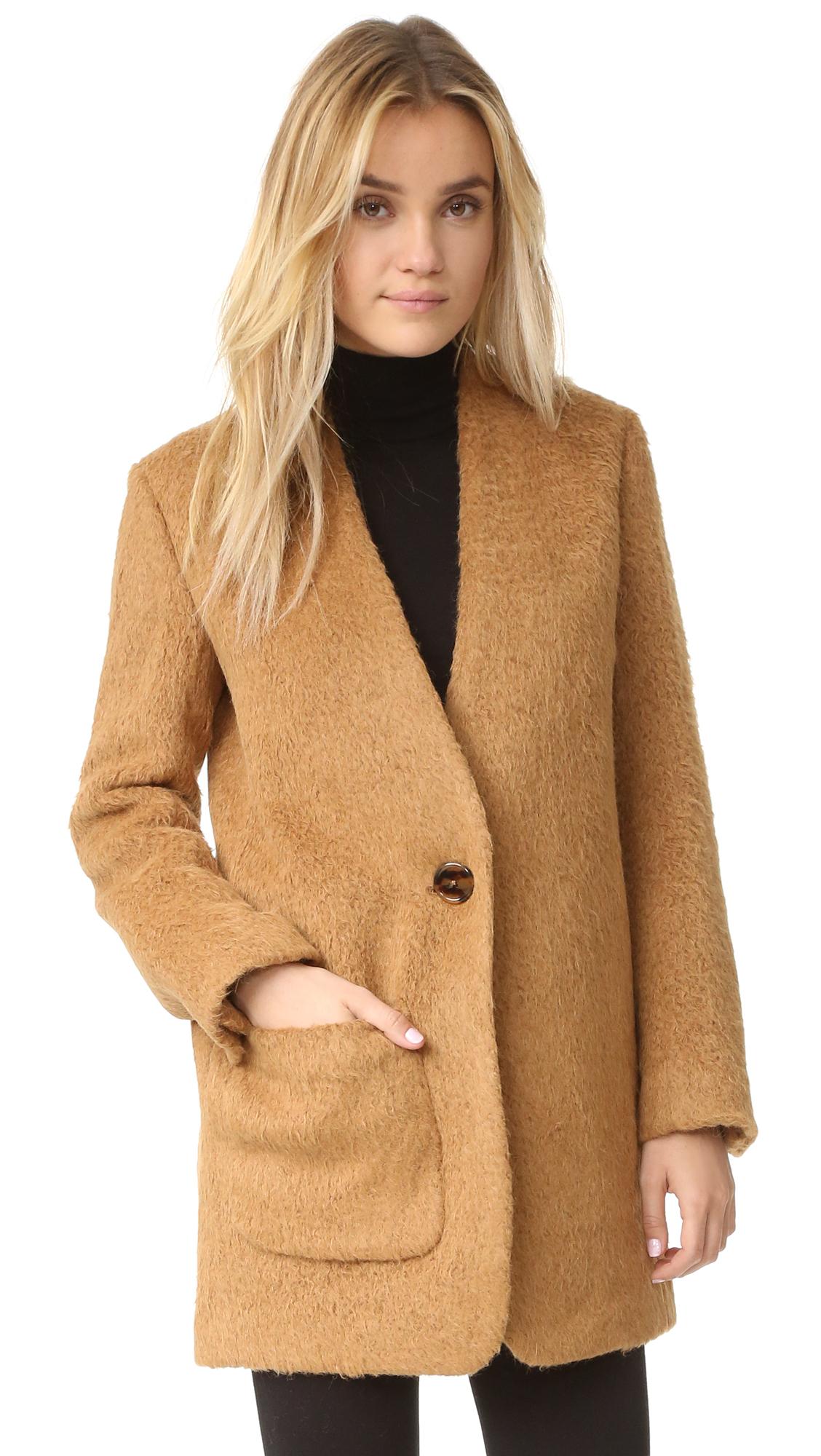 Helmut Lang Shaggy Blazer Coat  e8aa26b6b3e72