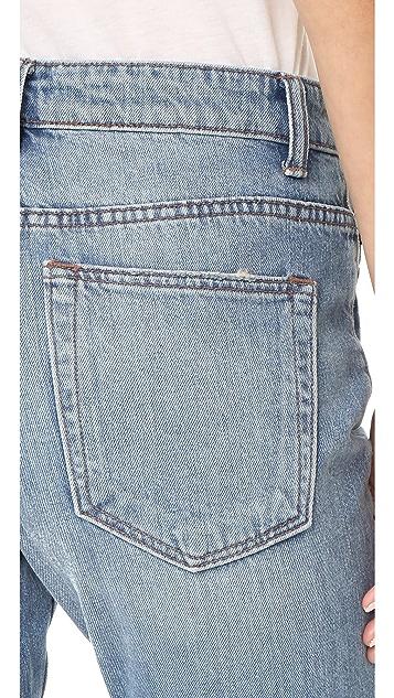 Helmut Lang High Rise Crop Jean