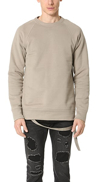 Helmut Lang Plush Fleece Oversized Crew Sweatshirt