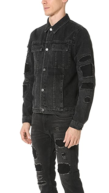 Helmut Lang MR 87 Destroyed Denim Jacket