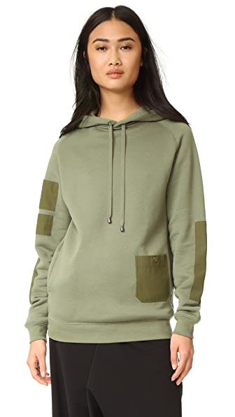 Helmut Lang Patch Pocket Hoodie - Vintage Marsh