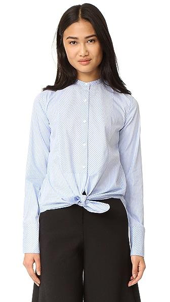 Helmut Lang Oxford Tuxedo Shirt - Medium Blue