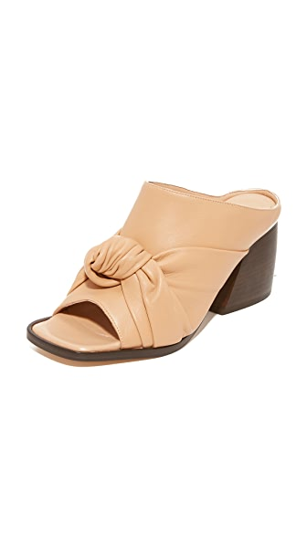 Helmut Lang Knotted Mules - Straw