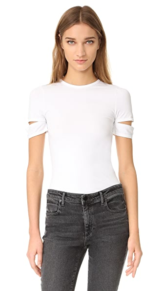 Helmut Lang Detached Short Sleeve Tee - White