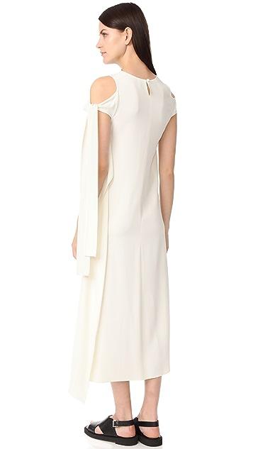 Helmut Lang Sleeve Tie Dress