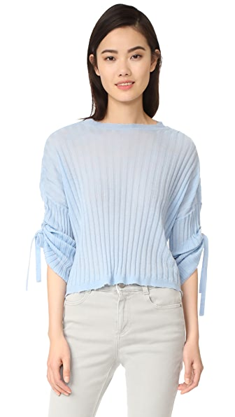 Helmut Lang Cashmere Tie Sleeve Pullover - Wave