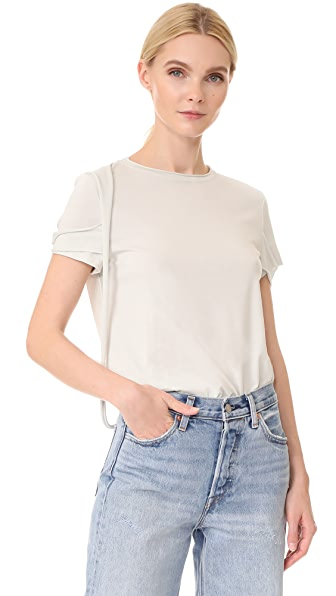 Helmut Lang Strappy T Shirt In Waterfall