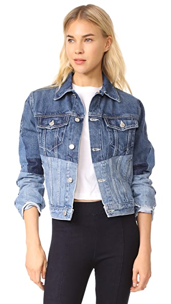 Helmut Lang Mixed Jean Jacket In Mixed Vintage Blue