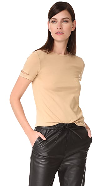 Helmut Lang Slash Pocket Tee - Cork