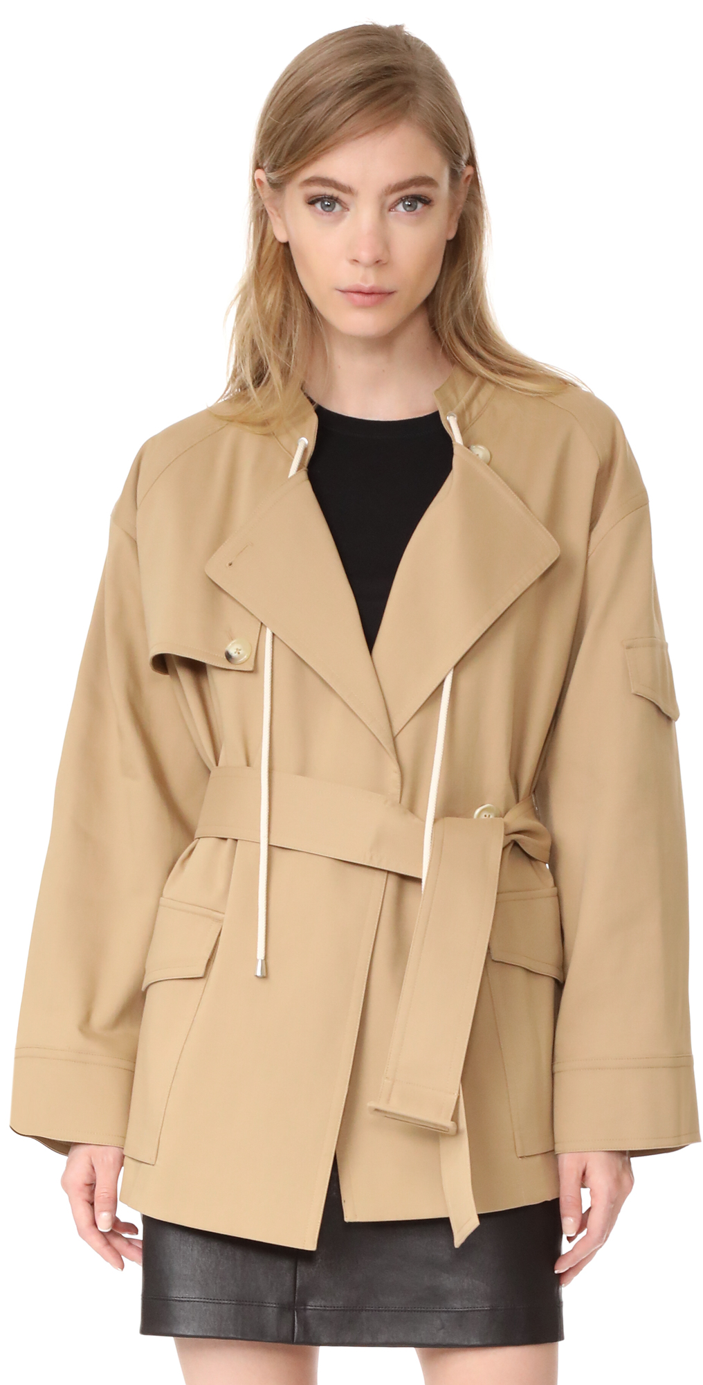 Oversized Cotton Trench Coat Helmut Lang