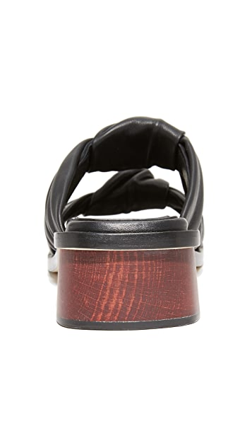 Helmut Lang Double Knotted Slides