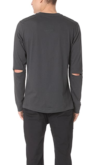 Helmut Lang Elbow Slit Long Sleeve Shirt