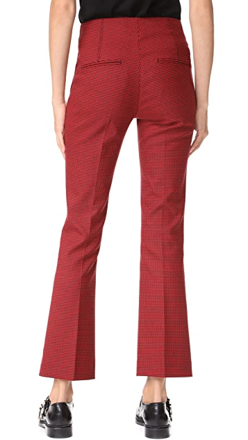 Helmut Lang Houndstooth Cropped Flare Pants