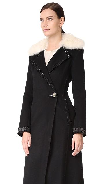 Helmut Lang Shearling Collar Coat | SHOPBOP SAVE UP TO 30% Use ...