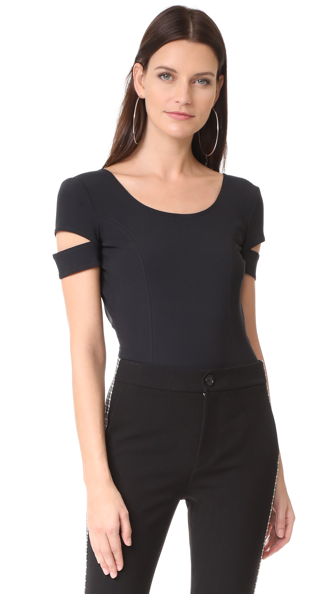 Helmut Lang Low Back Bodysuit - Black