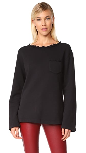 Helmut Lang Raw Detail Sweatshirt - Black