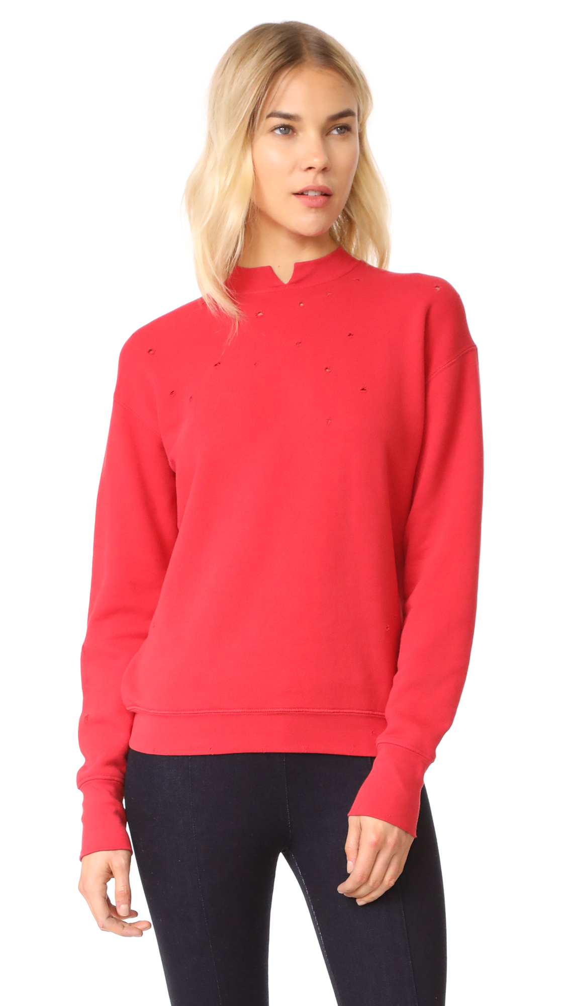 Helmut Lang Slash Neck Sweatshirt - Amaryllis