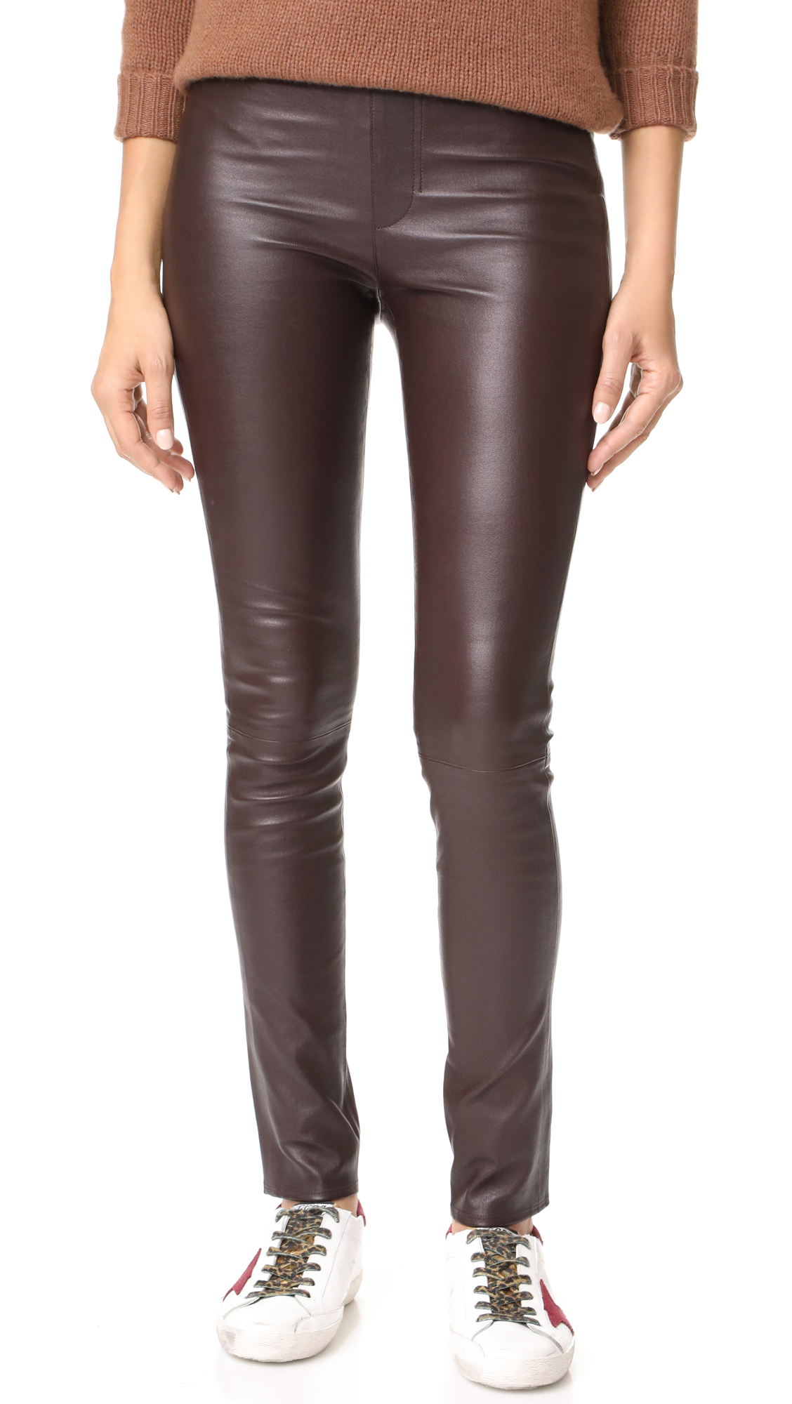 Helmut Lang Leather Leggings - Calla