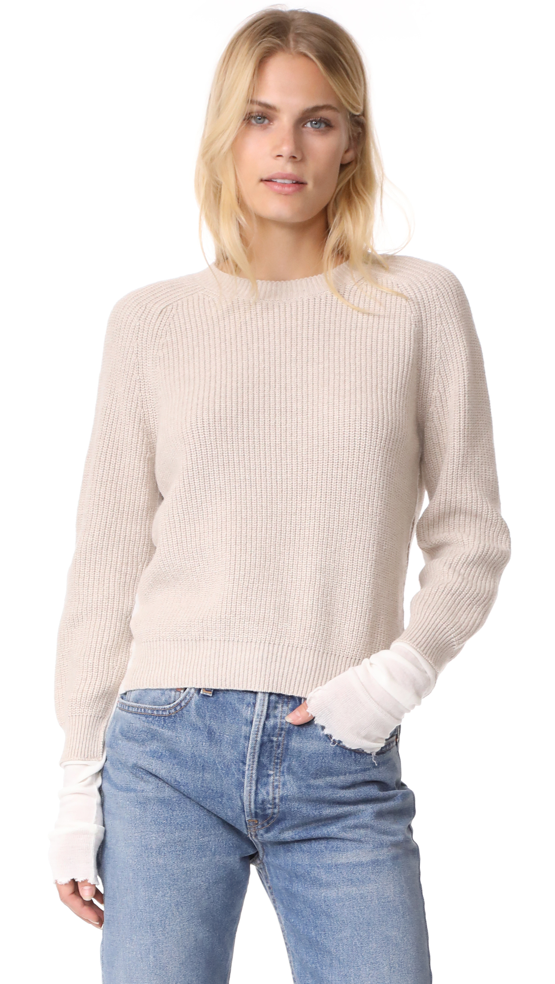 Helmut Lang Layered Sweater - Linen