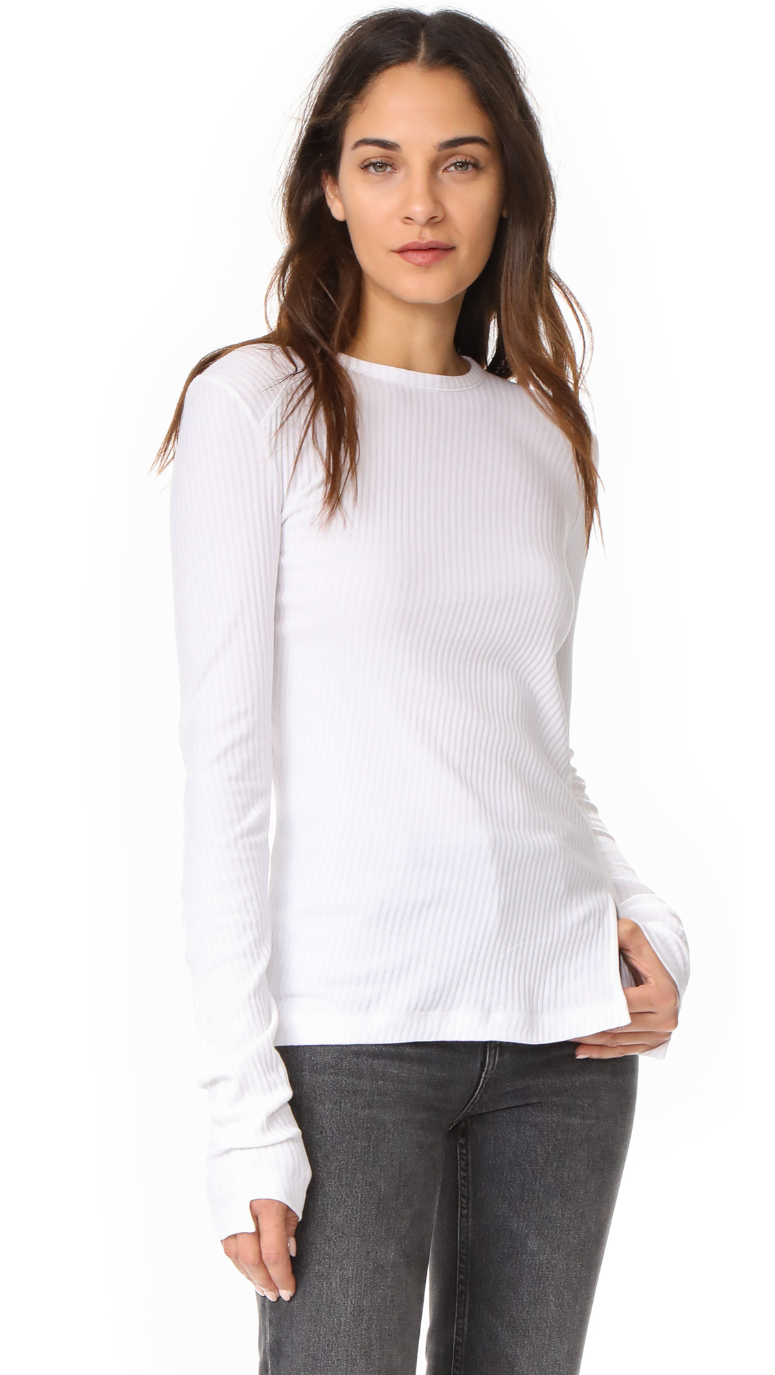 Helmut Lang Deconstructed Long Sleeve Tee - White