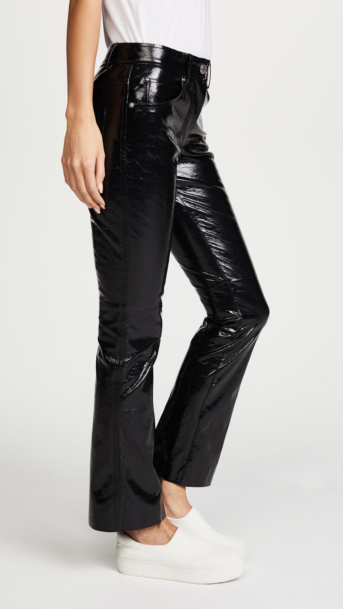 70334d15d65a5 Helmut Lang Patent Cropped Flare Pants | SHOPBOP