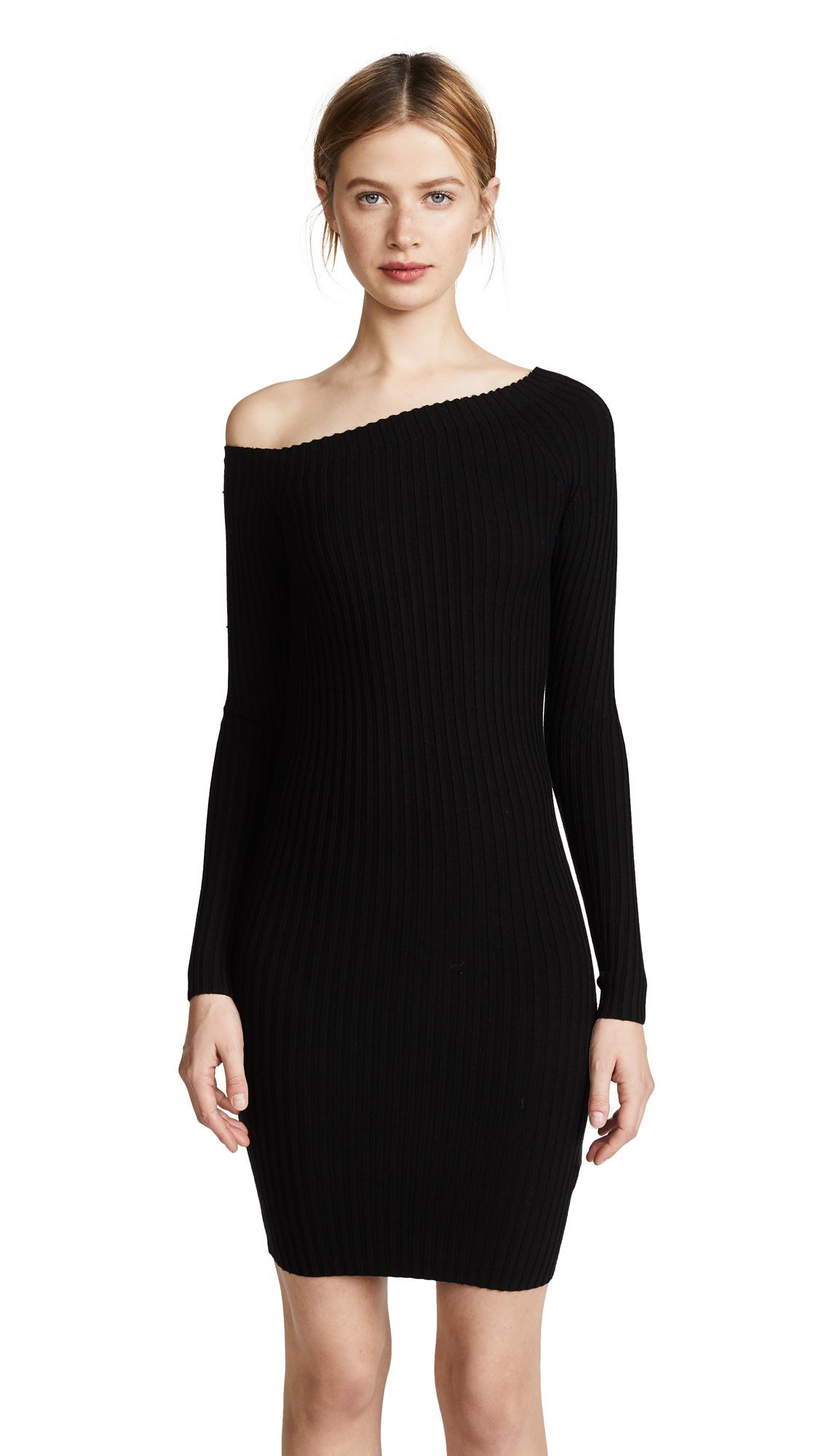Helmut Lang One Shoulder Dress - Black