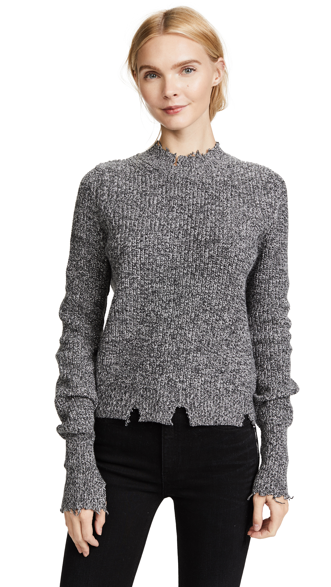 Helmut Lang Crew Neck Sweater - Charcoal