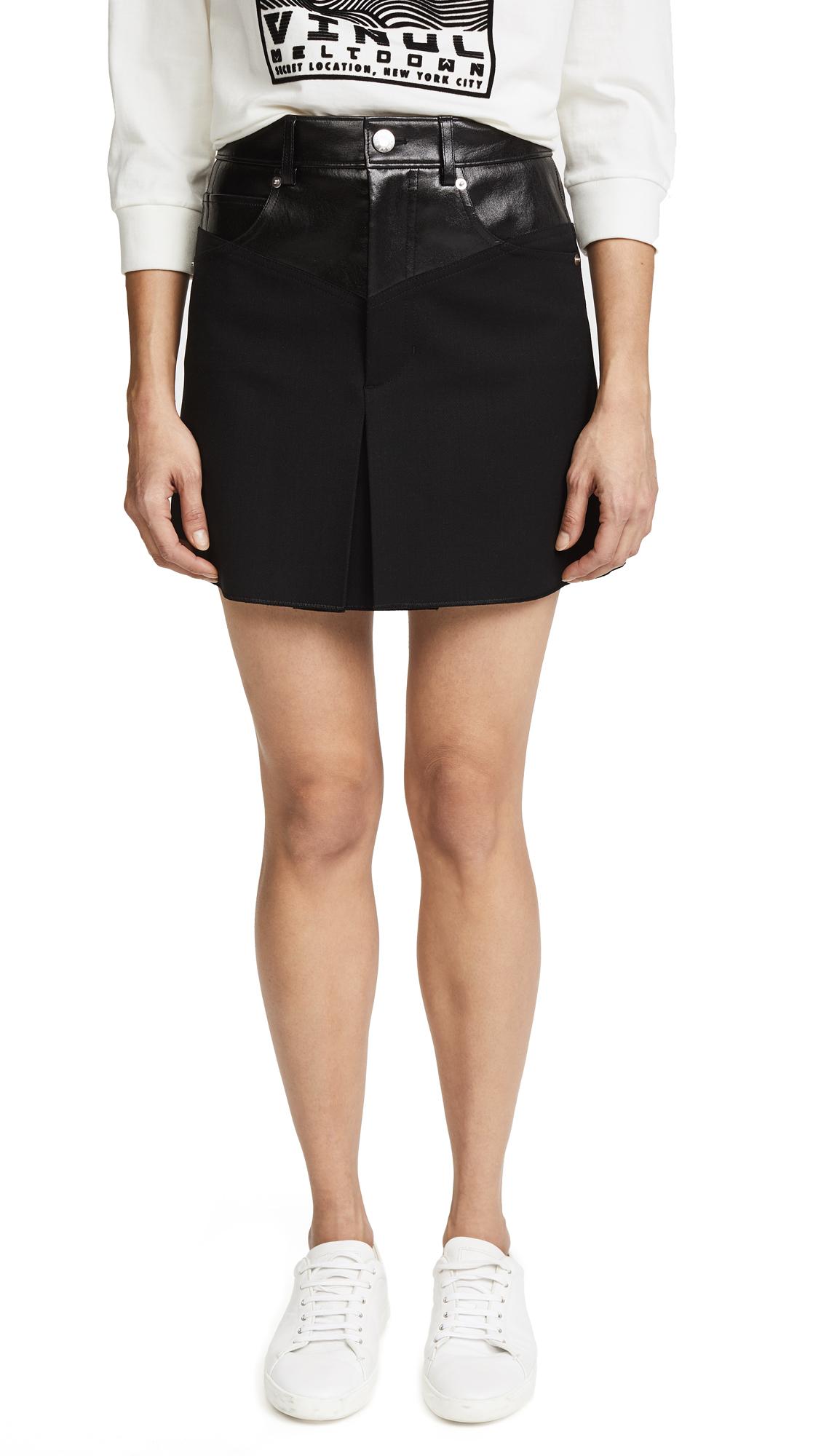 Helmut Lang Garter Miniskirt - Black