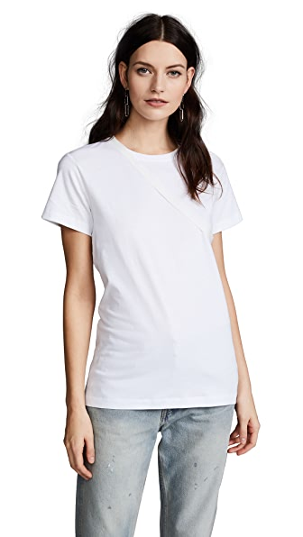 Helmut Lang Deconstructed Tee In White