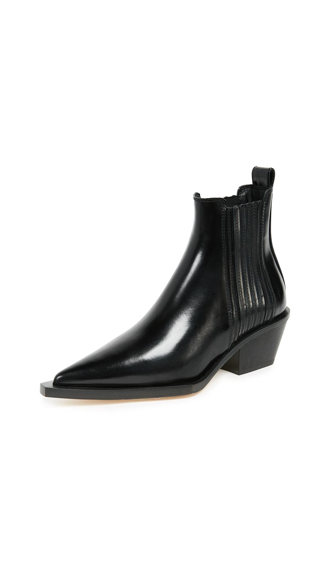 Helmut Lang Cowboy Boots - Black