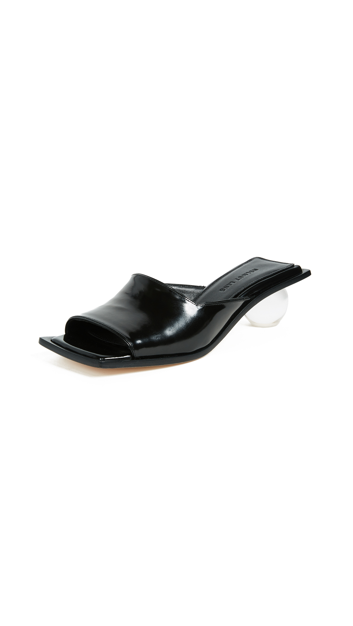 Helmut Lang Lucite Ball Slides - Black