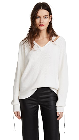 Helmut Lang Distressed Sweater at Shopbop