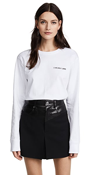 Helmut Lang Long Sleeve Taxi T-Shirt In White