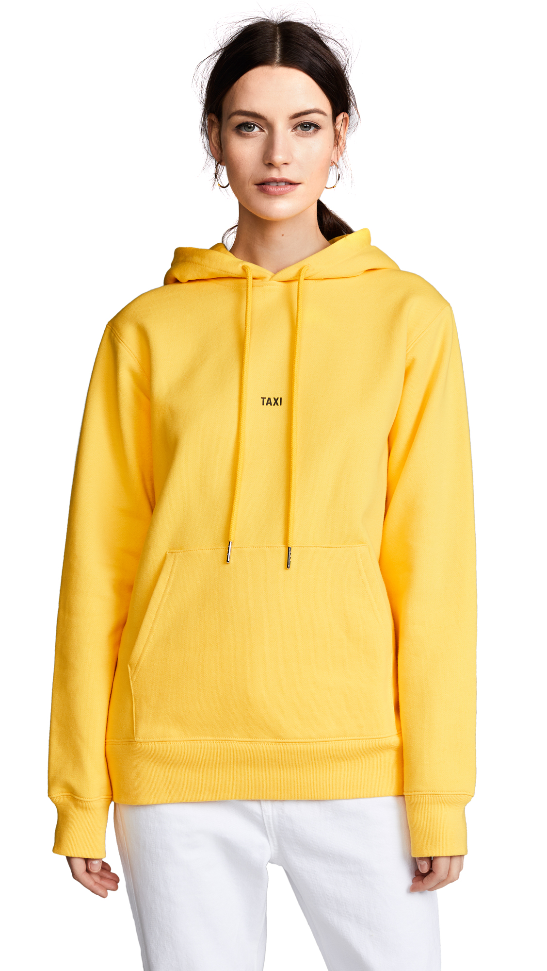 Helmut Lang Taxi Hoodie In Yellow