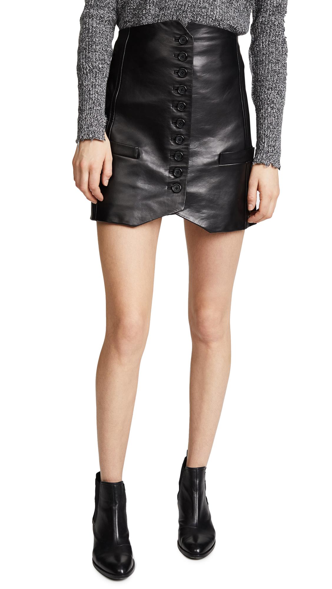 Helmut Lang Leather Vest Skirt - Black