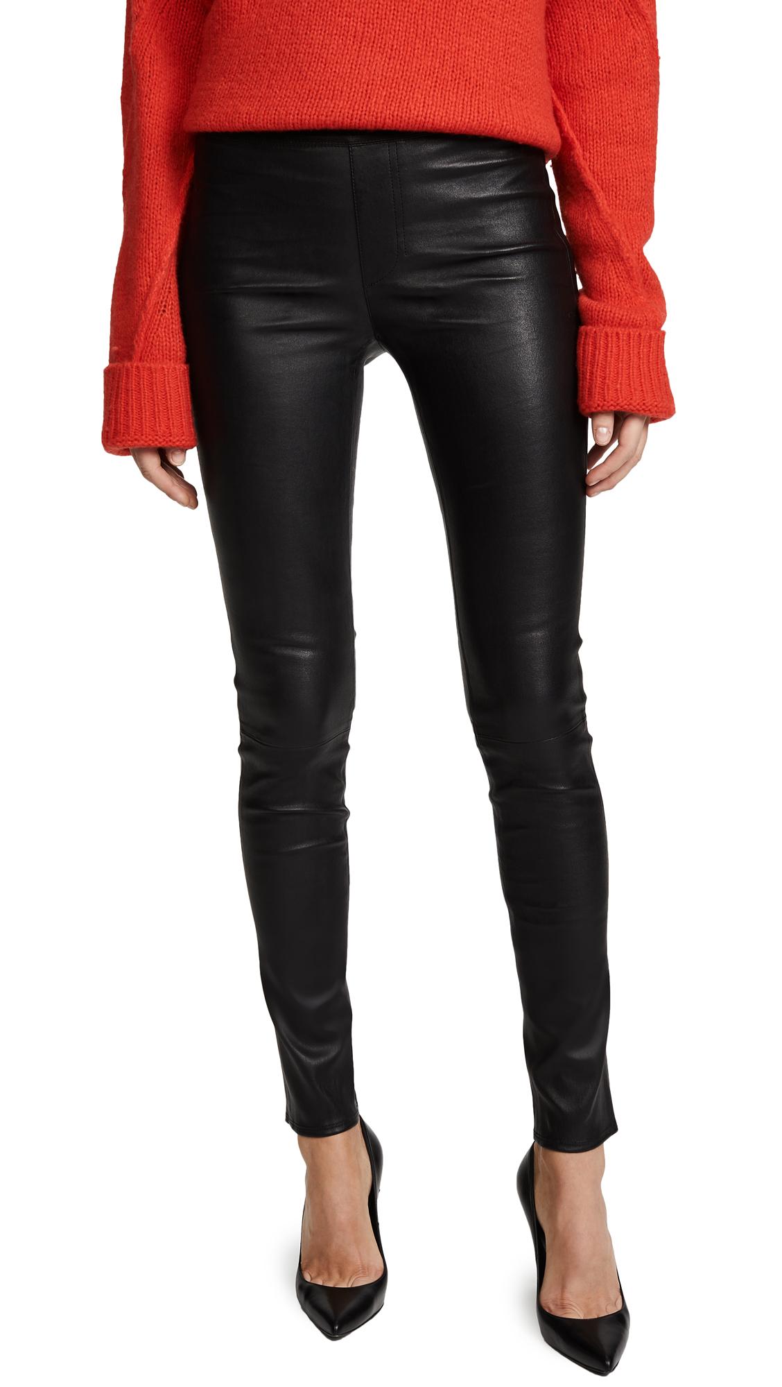 Helmut Lang Leather Leggings - Black