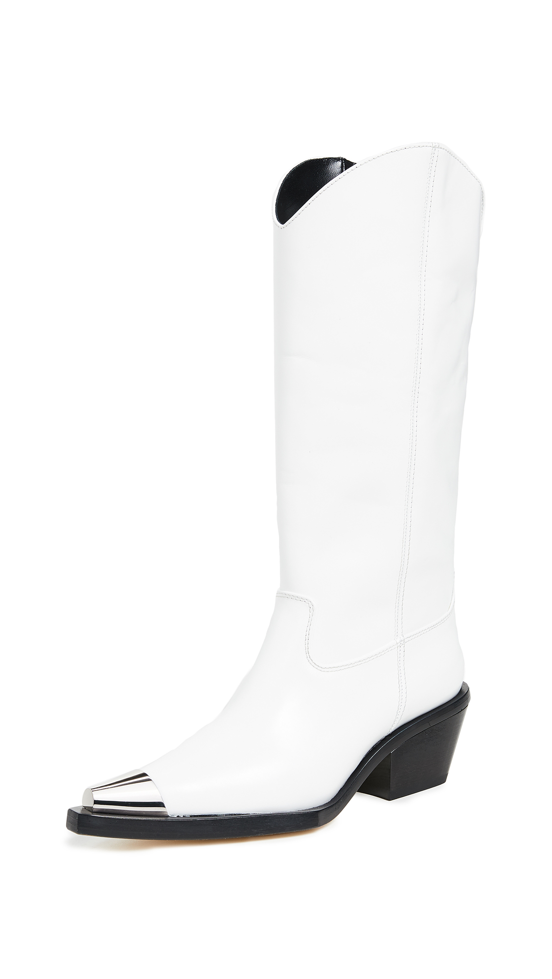 Helmut Lang Tall Cowboy Boots - White