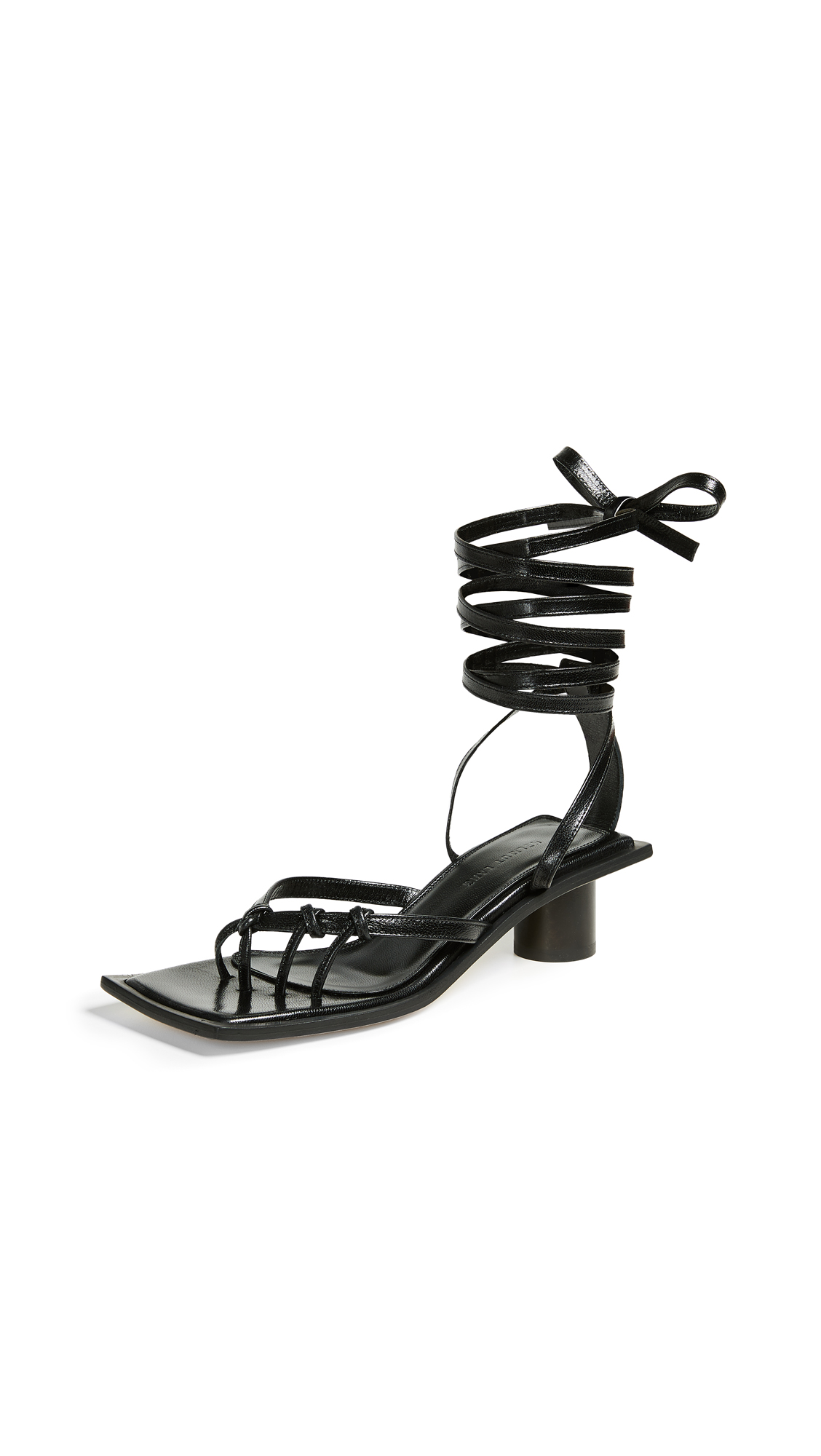 Helmut Lang Knotted Mid Heel Sandals