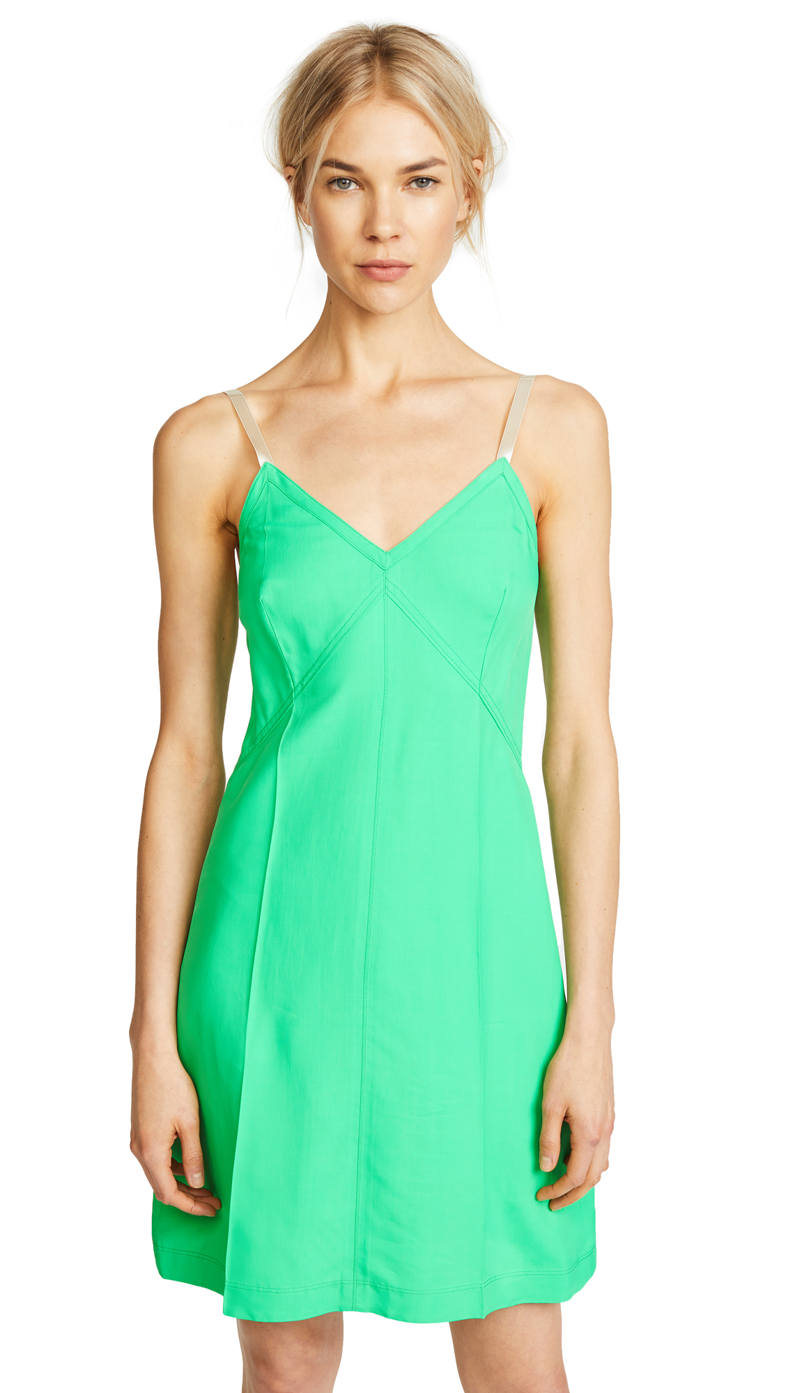 Helmut Lang Mini Slip Dress - Frog
