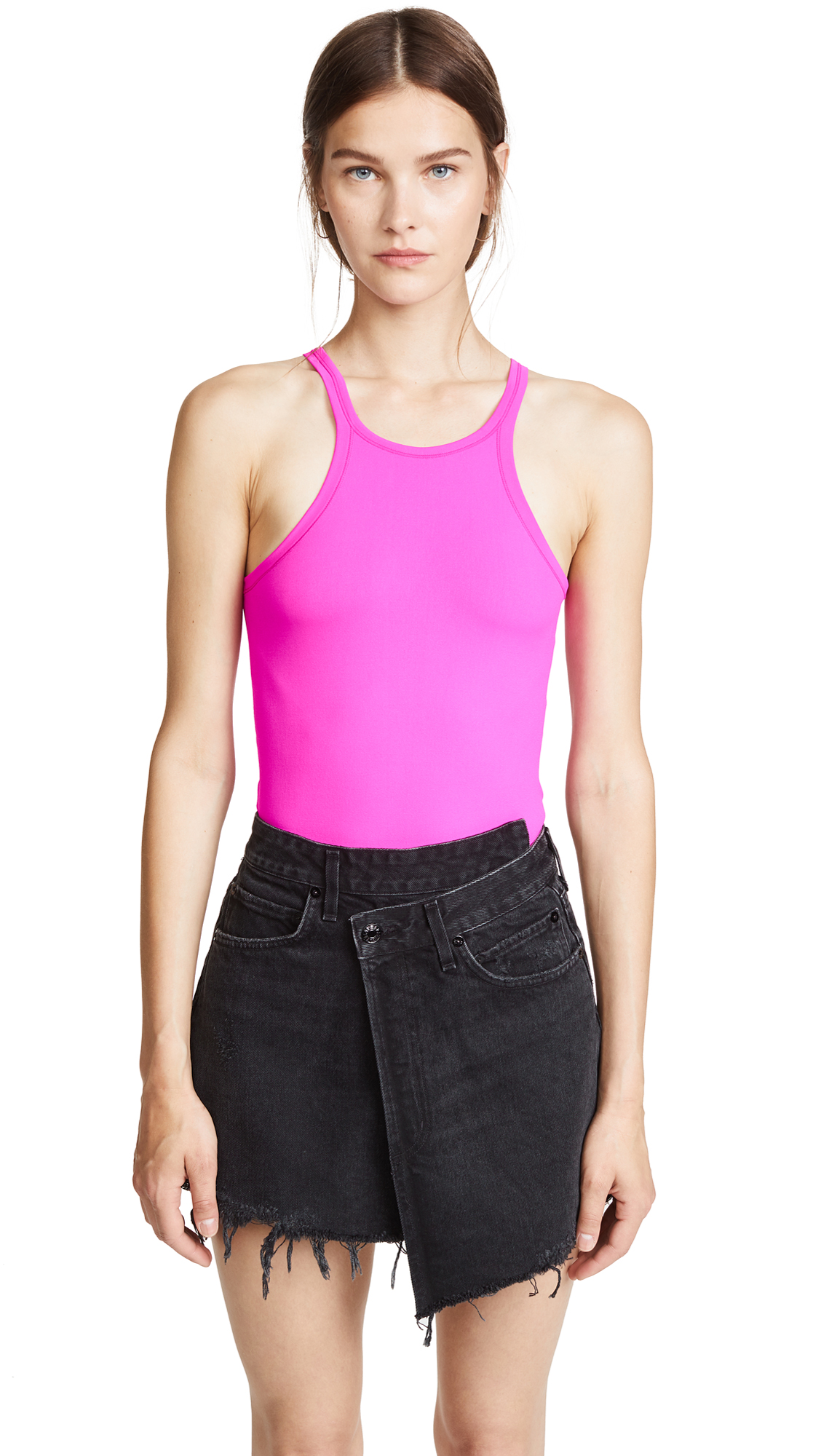 Racer Front Tank Top in Pink