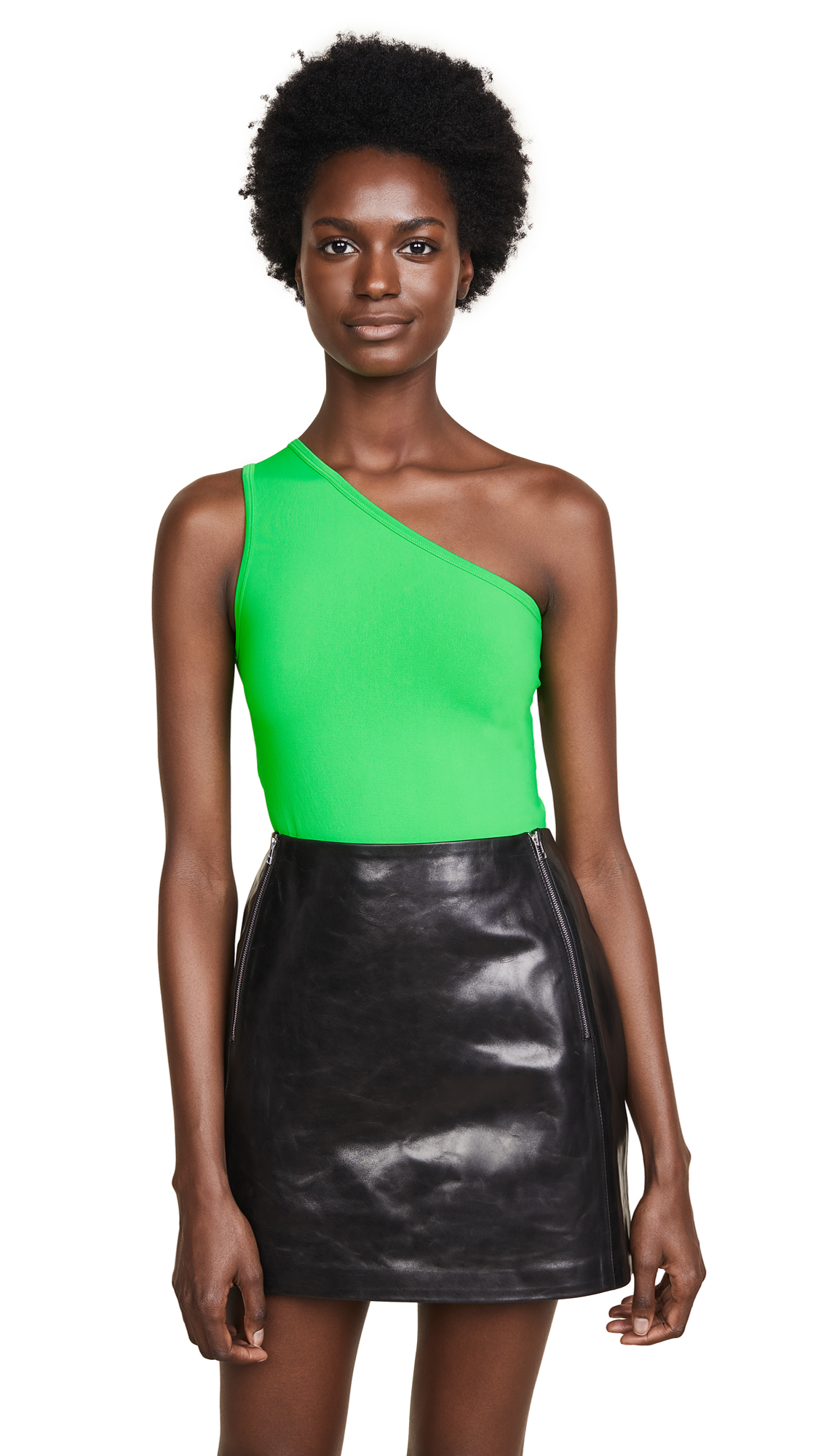 Helmut Lang Asymmetrical Seamless Tank Top - Apple