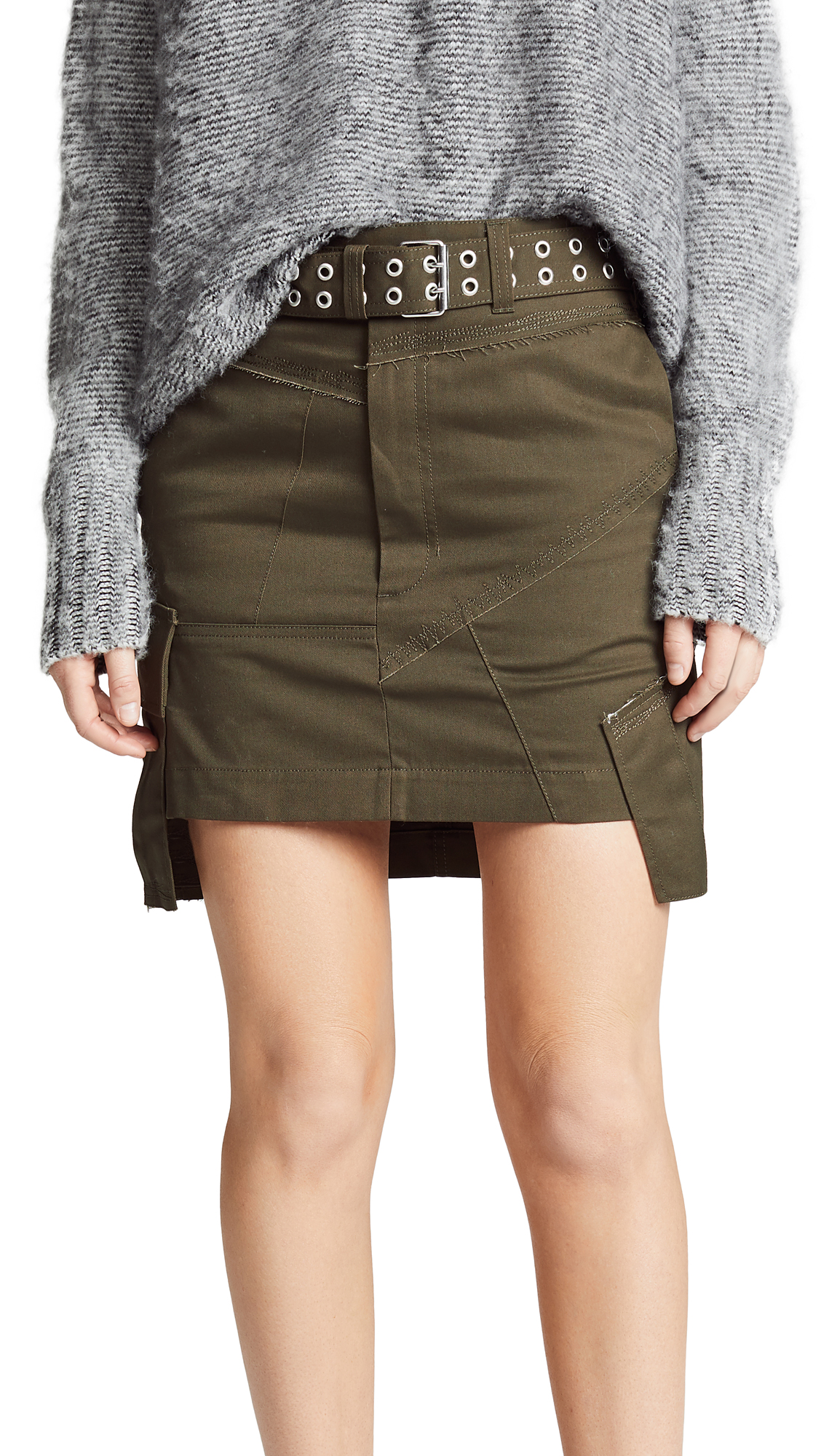 Helmut Lang Military Patch Skirt - Dark Peat