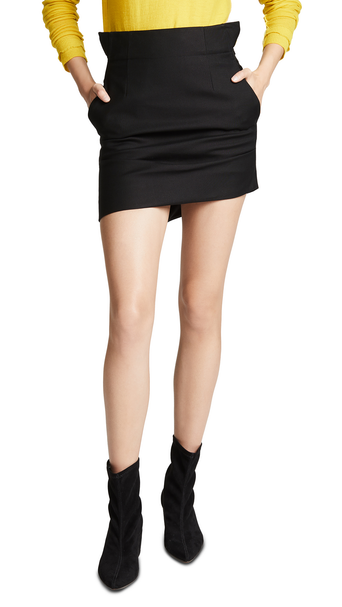 Helmut Lang Shifted Canvas Skirt - Black