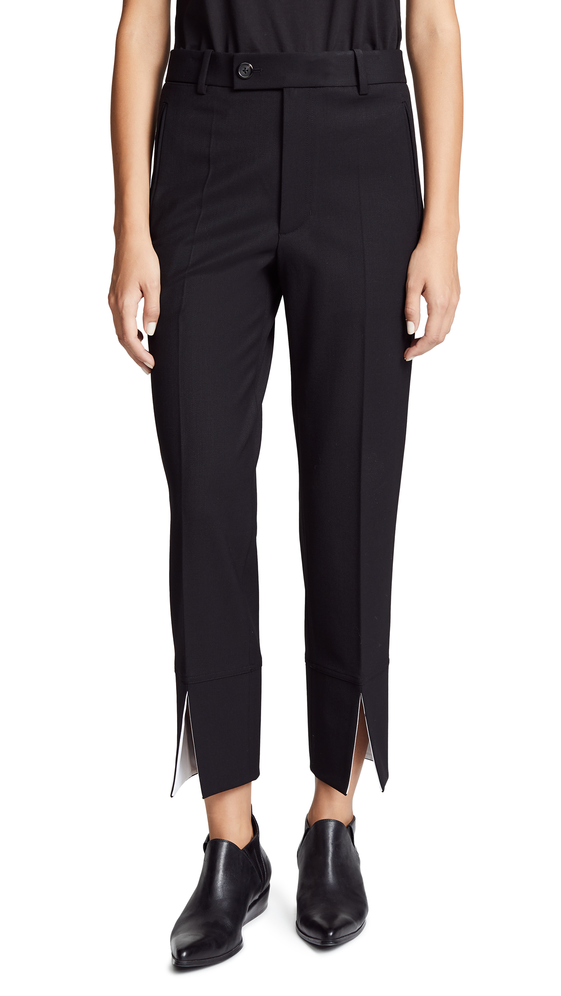 Helmut Lang Front Slit Suit Pants - Black