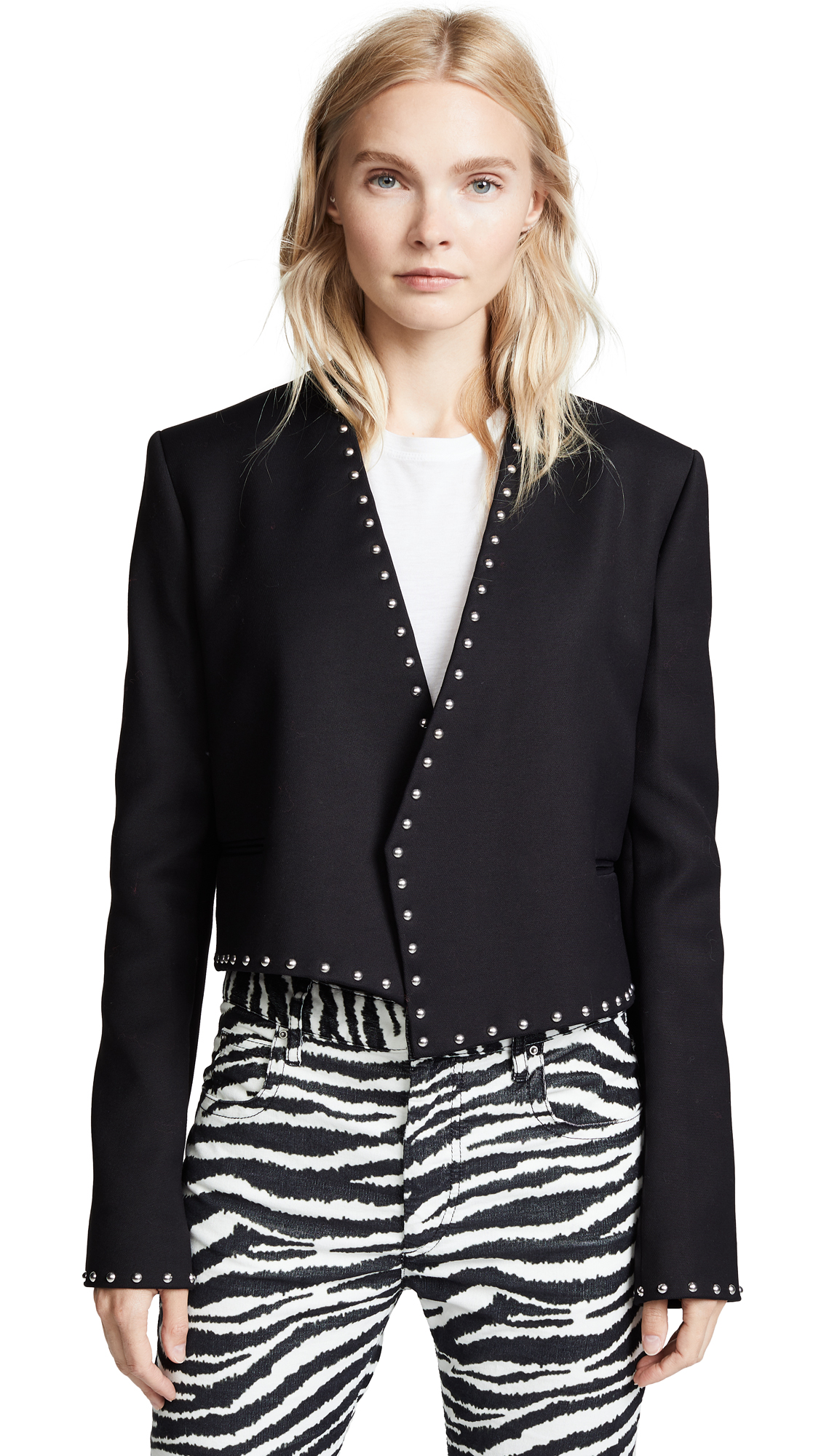 Helmut Lang Studded Suit Jacket - Black